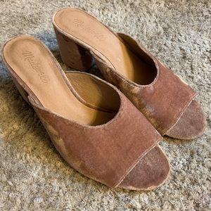 Madewell Beatriz velvet mule size 8